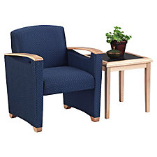 Fabric Guest Chair with End Table Set, CH04188
