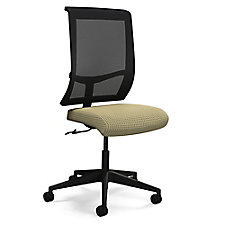 Commute Armless Fabric Seat Mesh Back Conference Chair, CH50674