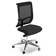 Commute Armless Fabric Seat Mesh Back Task Chair with Chrome Frame, CH50681