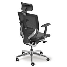 Arris High Back Mesh Ergonomic Chair with Leather Seat, CH04947