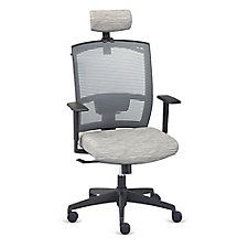 Mid Back Memory Foam Chair with Headrest and Hanger, CH51153