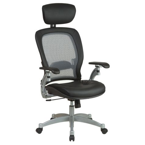 28 W Space Mesh Leather High Back Ergonomic Chair Officechairs Com