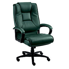 Work Smart Tufted Leather Executive Chair, CH52371