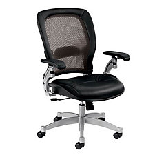 Space Mesh and Leather Mid Back Ergonomic Chair, CH00511