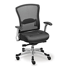 Mesh Back Leather Seat Computer Chair, CH50526