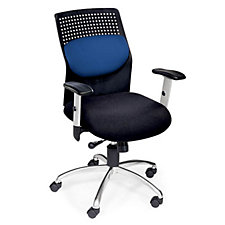 AirFlo Plastic and Fabric High Back Chrome Base Ergonomic Chair, CH01293