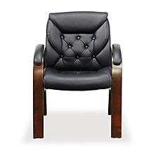 Traditional Faux Leather Guest Chair, CH52375