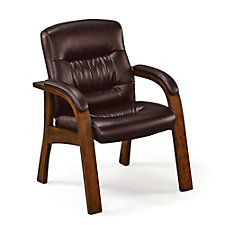 Faux Leather Wood Frame Guest Chair, CH50542