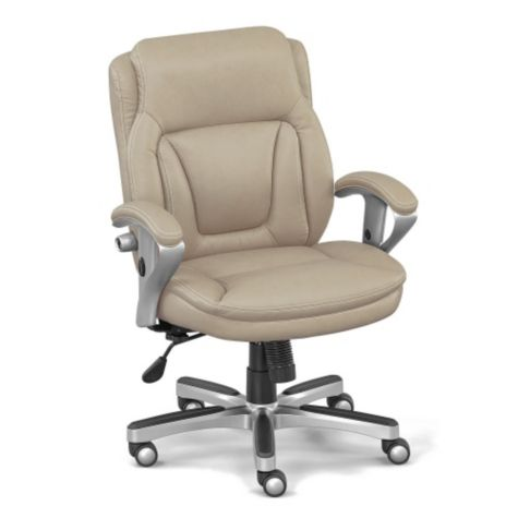 Petite Low Height Computer Chair w/Memory Foam Seat ...