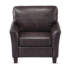 Faux Leather Cushioned Club Chair, CH51182
