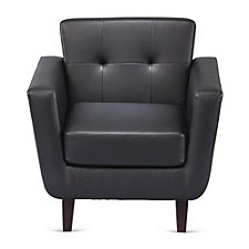 Faux Leather Button Tufted Club Chair, CH51184
