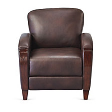 Faux Leather Wood Trim Club Chair, CH51186