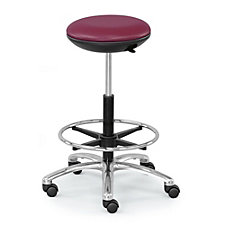 Polyurethane Stool with Memory Foam Seat and Foot Ring, CH51174