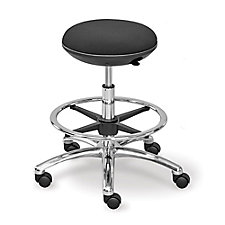 Fabric Mid Range Stool with Memory Foam Seat and Foot Ring, CH50866