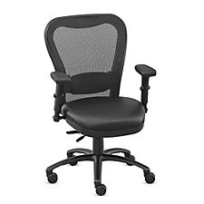 24/7 Big and Tall Polyurethane Seat Mesh Chair with Memory Foam, CH50871