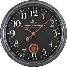 "Distressed Frame Wall Clock - 24"", 8813491"