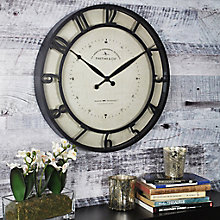 """Raised Numeral Wall Clock with Whisper Technology - 18"""", 8813472"""