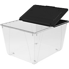 Set of Four 16 Gallon Flip Lid Storage Totes, 8823879