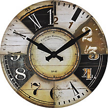 """Vintage Collage Dial Wall Clock - 15.5"""", 8813479"""