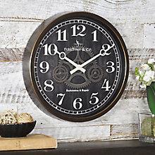 "Industrial Gear Wall Clock - 12"", 8813481"