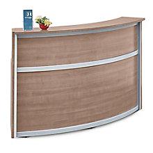 "Laminate Curved Reception Desk - 72""W x 30""D, 8804959"