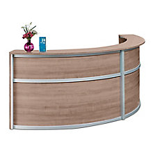 "Double Laminate Curved Reception Desk - 123""W x 48""D, 8804961"
