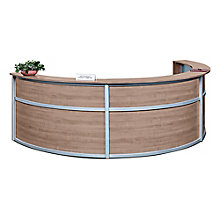"Triple Laminate Curved Reception Desk - 142""W x 72""D, 8804963"
