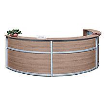 "Triple Laminate Curved Reception Desk - 142""W x 72""D, 8804963"