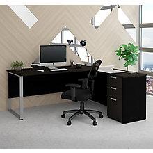 Proc Concept Plus Reversible L-Desk with Metal Leg, 8827189