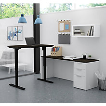 Pro Concept Plus Adjustable Height L-Desk, 8827190