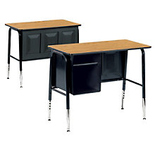 Single Desk with Book Box, 8802030