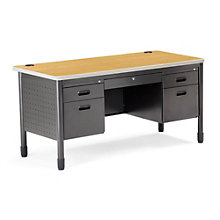 Heavy Duty Executive Double Pedestal Desk, OFM-66360