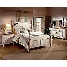 Bed - King, Rails, Nightstand,, 8819105