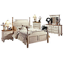 Bed - King, Rails, Nightstand,, 8819106