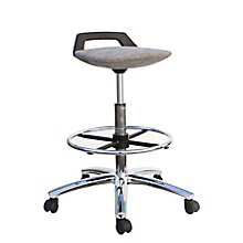 Zuum Low Back Tall Fabric Seat Stool with Foot Ring, 8807783