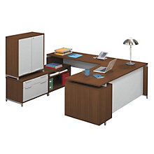 Align U-Desk with Storage Cabinet, NBF-AUDHLHD