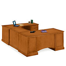 Belmont Executive U-Desk with Right Bridge, DMI-713-78