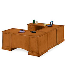 Belmont Executive U-Desk with Left Bridge, DMI-713-79