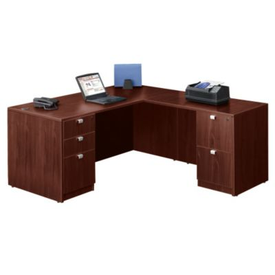 Mahogany L Desks Browse All Office Furniture