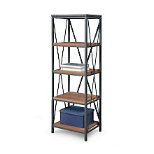 "Four Shelf Open Frame Bookcase - 61""H , 8827589"