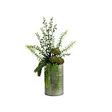 "19""H- Aloe Burro Tail & Succulents, 8822908"