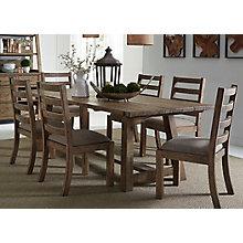 7 Piece Trestle Table Set , 8811546