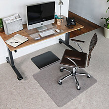 "Sit or Stand Chair Mat with Lip - 3'W x 4'5""D, 8804504"