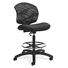 Tye Armless Mesh Back Drafting Stool, 8814291