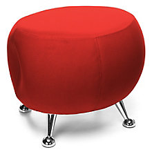 Low Fabric Stool with Chrome Legs, 8810129