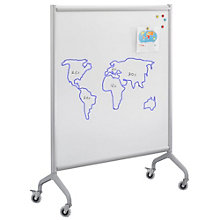 "Rumba Mobile Magnetic Whiteboard - 42""W x 54""H, 8802476"