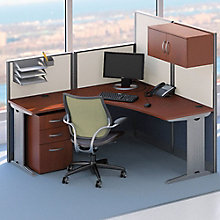 L Workstation with Panels and Storage, OFG-LD1128