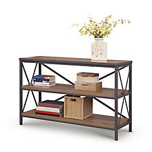 "Rivet 48""W x 30""H Three Shelf Bookcase, 8827996"