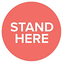 "Stand Here Floor Decal 12""Dia, 8828854"