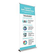 Premium Safety Information Banner Stand 6.5'H, 8828866